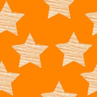 Motif étoile doodle sans soudure