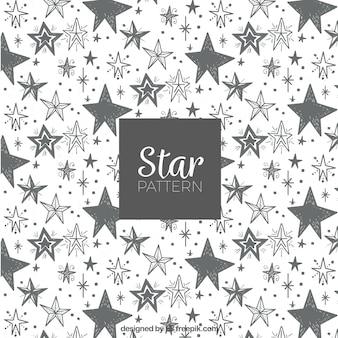 Motif d'étoile grise