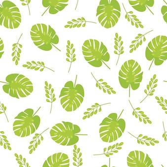 Le motif exotique harmonieux des feuilles de monstera tropicales. illustration vectorielle