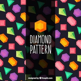 Motif fantastique avec des pierres précieuses de couleur