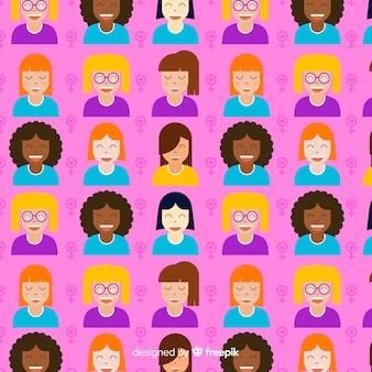 Motif de femmes colorées avec un design plat