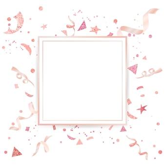 Motif festif de confettis rose pâle