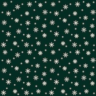 Motif festif pour les vacances de noël et du nouvel an. avec de beaux flocons de neige. illustration vectorielle
