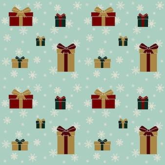 Motif festif pour les vacances de noël et du nouvel an. avec différents coffrets cadeaux. illustration vectorielle
