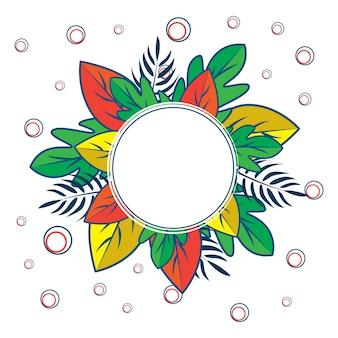 Motif de feuille de cercle