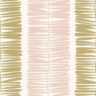 Motif de feuille de forme moderne contemporaine de vecteur illustration motif de répétition sans couture décor à la maison imprimer