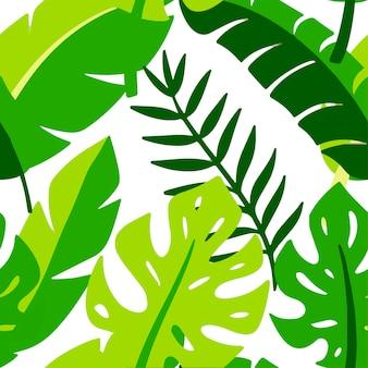 Motif de feuille sans soudure. illustration dessinée à la main. éléments pour carte de voeux, affiche, bannières. conception de t-shirt, cahier et autocollant
