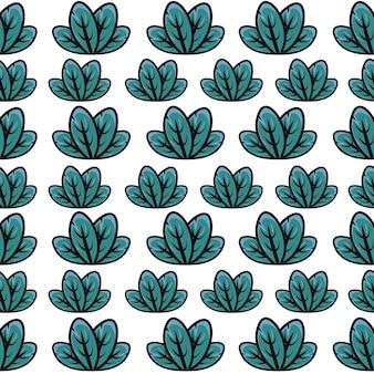 Motif de feuille verte
