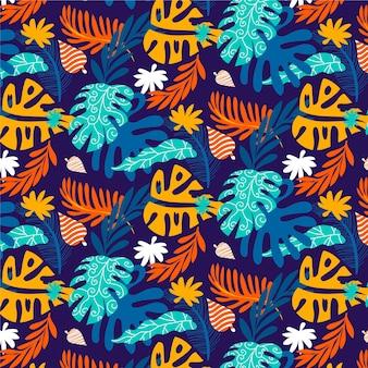 Motif de feuilles abstraites dessinés à la main