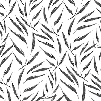 Motif feuilles abstraites