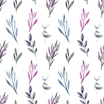 Motif feuilles aquarelle