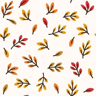 Motif de feuilles d'automne sans soudure