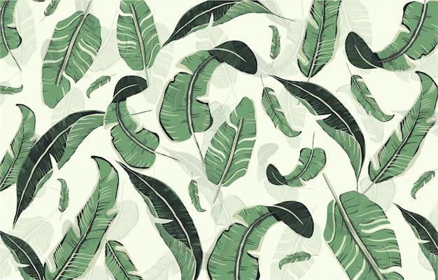 Motif de feuilles dessinées à la main