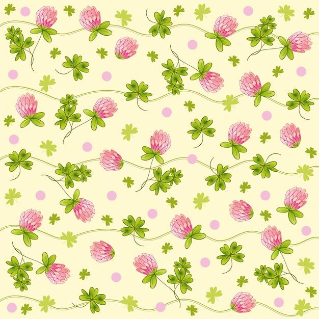 Motif de feuilles et de fleurs