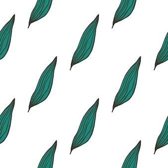 Motif de feuilles de ligne organique géométrique isolé sur fond blanc.