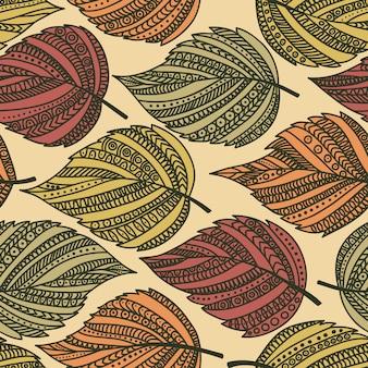 Motif de feuilles sans couture automne