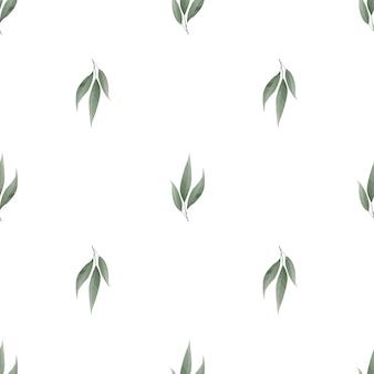 Motif feuilles sans soudure