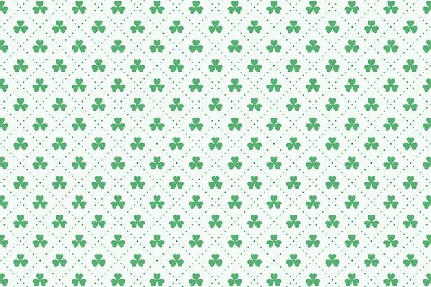 Motif de feuilles de trèfle pour la saint-patrick