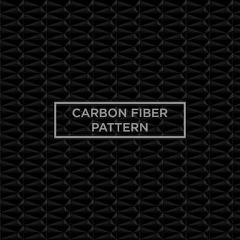Motif de fibre de carbone noir