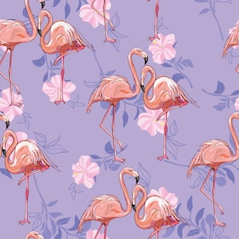 Motif flamant rose sans couture