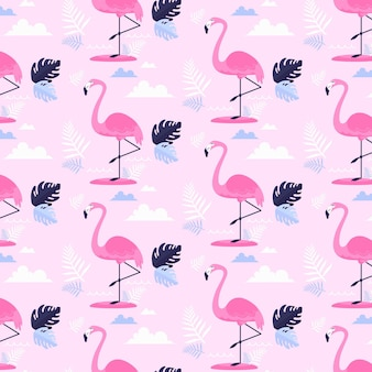 Motif flamant rose