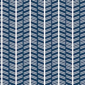 Motif de flèches à chevronsscandinavian couleurs blanc et bleu