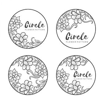 Motif de fleur de cercle