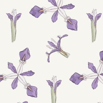 Motif de fleur d'iris