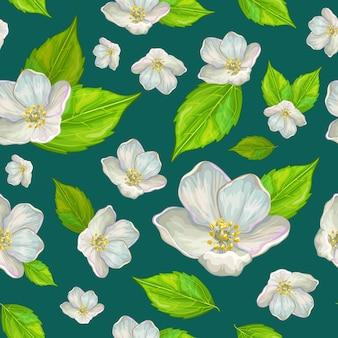 Motif fleur de jasmin