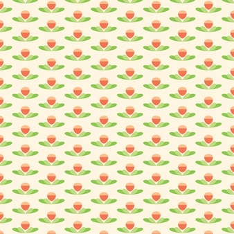 Motif de fleur de lotus mignon