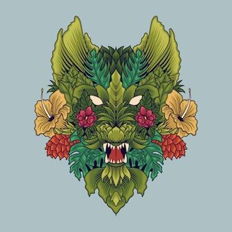 Motif de fleur de loup