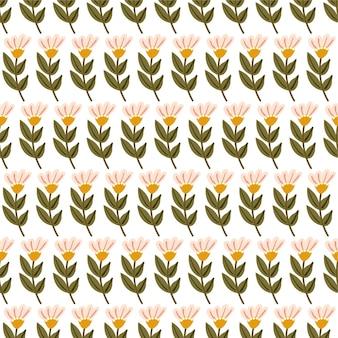 Motif de fleur vectorielle continue pour la conception et la mode imprime fond floral vintage