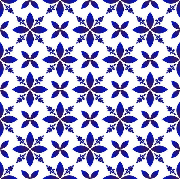 Motif de fleurs abstraites en porcelaine