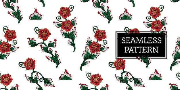 Motif de fleurs balinais