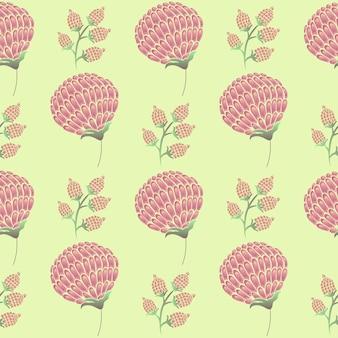Motif de fleurs et de bourgeons d'orchidées
