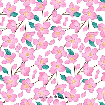 Motif de fleurs de cerisier