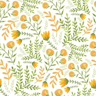 Motif de fleurs de champ