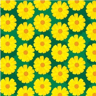 Motif fleurs du soleil