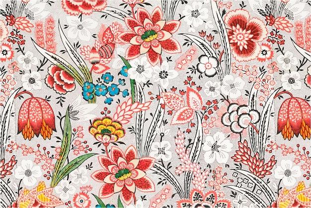 Motif de fleurs épanouies