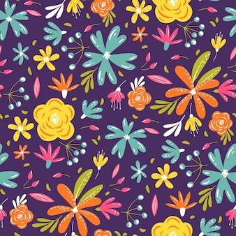 Motif de fleurs d'été