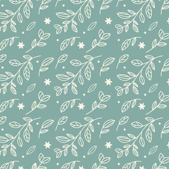 Motif de fleurs sur fond vert