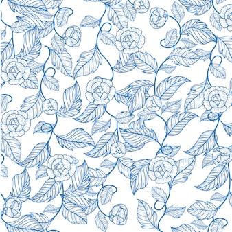 Motif de fleurs de jasmin
