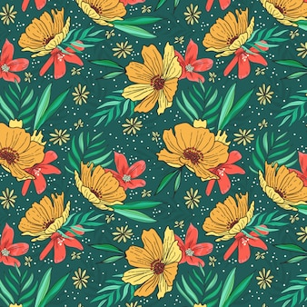 Motif de fleurs jaunes frash