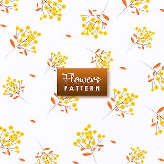 Motif fleurs jaunes