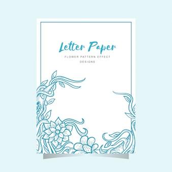 Motif de fleurs en papier à lettres