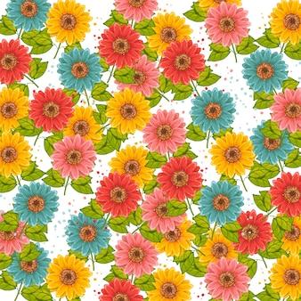 Motif de fleurs pour l'invitation de papier peint de conception et de mise en page