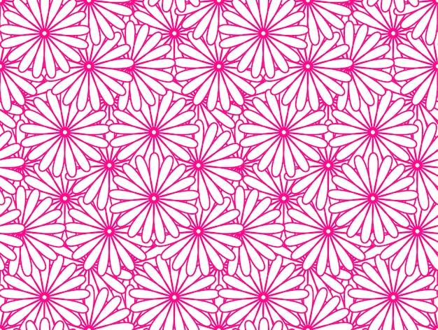 Motif de fleurs roses
