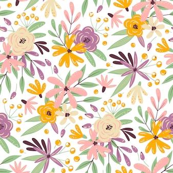 Motif de fleurs sans couture de l'été