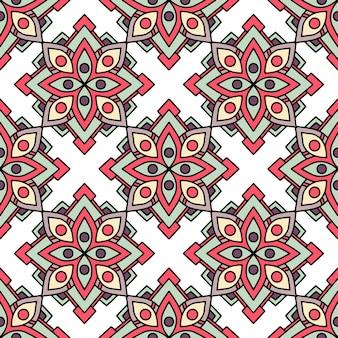 Motif de fleurs tribales africaines, style de contour