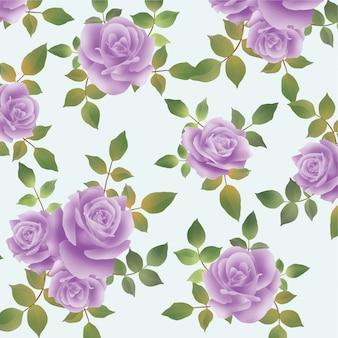 Motif de fleurs violet aquarelle